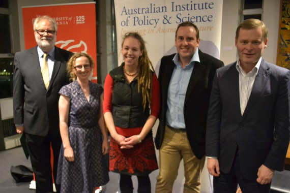 2015 Tasmanian Winners with Prof Andrew Wells and Prof Peter Rathjen