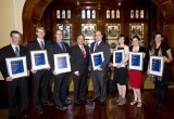2011 SA Tall Poppy Winners with His Excellency Rear Admiral Kevin Scarce AC CSC RANR, Governor of South Australia