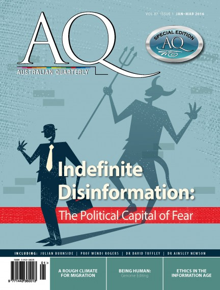 AQ 87.1 Jan-Mar 2016 Cover